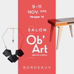 Salon Ob'Art de Bordeaux du 09 au 11 novembre 2018